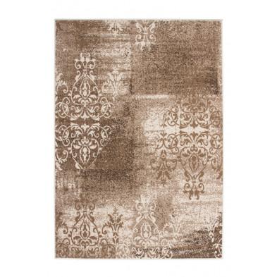 Tapis vintage marron en polypropylène avec des motifs rayé L. 170 x P. 120 x H. 1 cm Collection Buijnsters