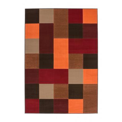 Tapis moderne multicouleur en polypropylène avec des motifs cubisme  L. 230 x P. 160 x H. 1 cm Collection Forsake