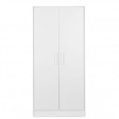 Armoire bébé design blanc en panneaux de particules de haute qualité L. 85 x P. 50 x H. 180 cm Collection Cocuruzzo