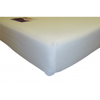 Matelas blanc contemporain en polyester 150 x 190 cm collection Carcastillo