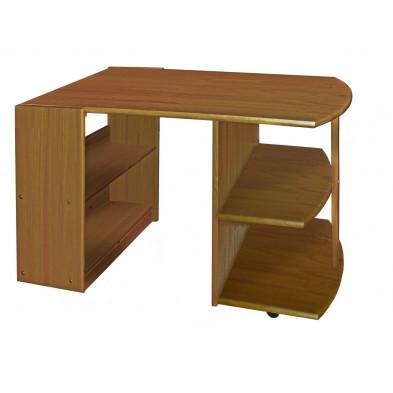 Bureau enfant marron contemporain en bois massif pin 119 cm de largeur collection Genoveffa