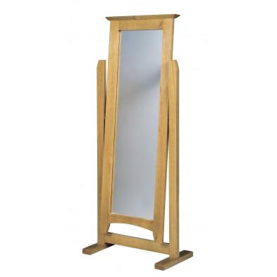 Miroir sur pied contemporain marron L. 58 x H. 34 cm collection Genoveffa
