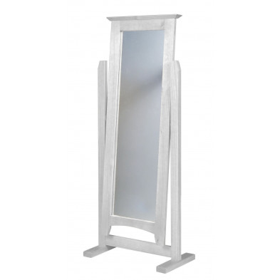 Miroir sur pied contemporain blanc L. 58 x H. 34 cm collection Genoveffa