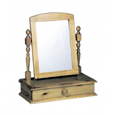 Miroir sur pied contemporain marron L. 56 x H. 26 cm collection Genoveffa