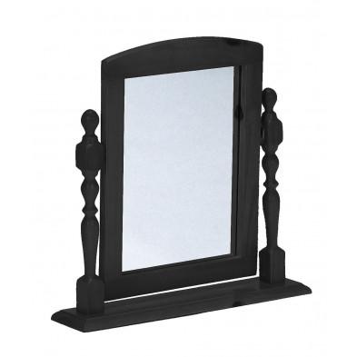 Miroir sur pied gris contemporain gris L. 54 x H. 12 cm collection Genoveffa