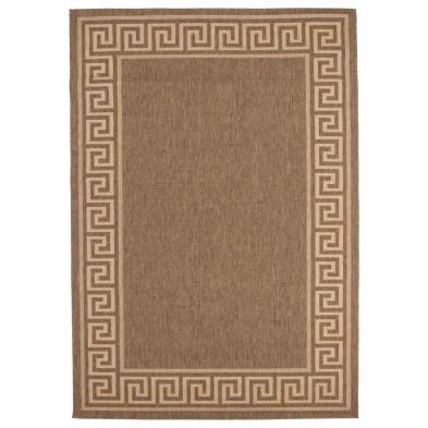 Tapis moderne marron en polypropylène bcf avec des motifs géométrique L. 150 x P. 80 x H. 0,5 cm Collection  Ashtabula