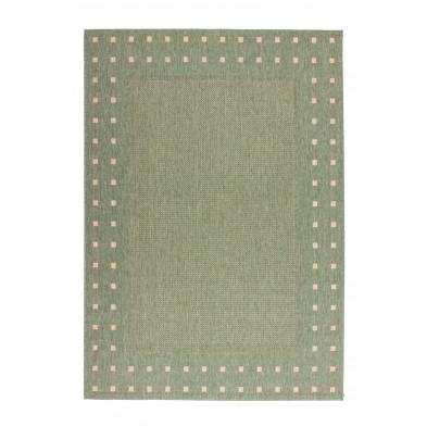 Tapis design vert moderne tissé à la machine en polypropylène bcf L. 300 x P. 60 x H. 0,5 cm collection Allyriane