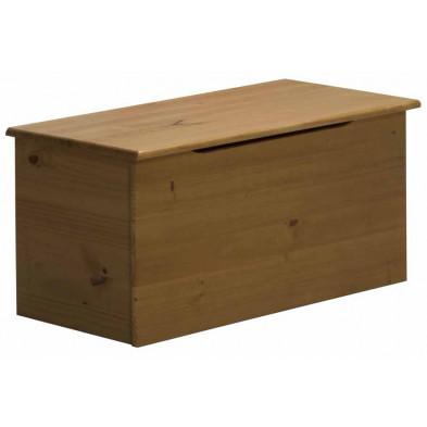 Boîte - panier contemporain marron en bois massif pin L. 43 x H. 41 cm collection Genoveffa