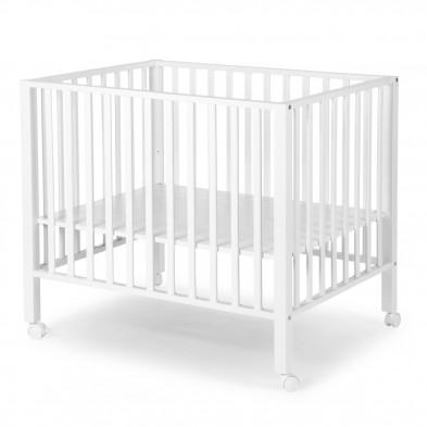 Parc bébé design blanc en bois massif hêtre 75 x 95 cm Collection Jip