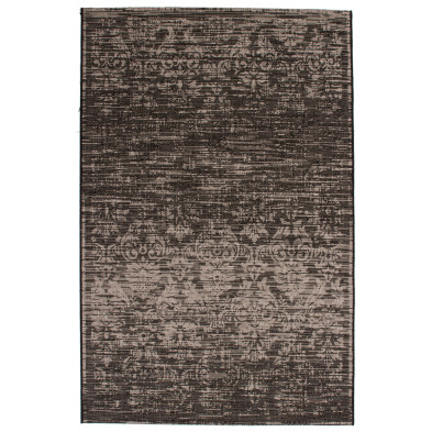 Tapis vintage gris en polypropylène bcf avec des motifs rayé L. 230 x P. 160 x H. 0,5 cm Collection Kolbermoor