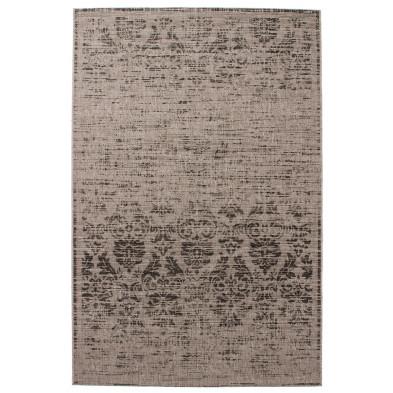 Tapis vintage gris en polypropylène bcf avec des motifs rayé  L. 150 x P. 80 x H. 0,5 cm Collection Kolbermoor