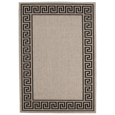 Tapis moderne gris en polypropylène bcf L. 230 x P. 160 x H. 0,5 cm Collection Ashtabula