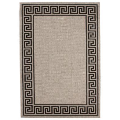 Tapis moderne gris en polypropylène bcf L. 290 x P. 200 x H. 0,5 cm Collection Ashtabula