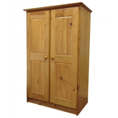 Armoire enfant marron contemporaine en bois massif  L. 86 x H. 136 cm collection Genoveffa