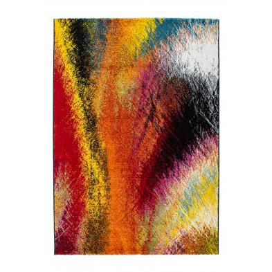 Tapis design multicouleur en polypropylène heatset frisée  L. 290 x P. 200 x H. 1,5 cm Collection Monguzzo