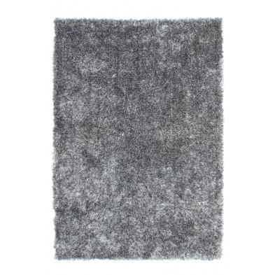 Tapis moderne shaggy coloris gris avec des motifs uni L. 330 x P. 240 x H. 5 cm Collection Wailuku