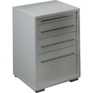 Caisson bureau blanc design en panneaux de particules mélaminés de haute qualité L. 44,7 x P. 58 x H. 75 cm collection Ryo