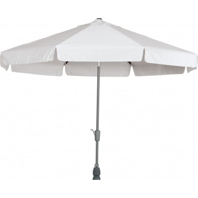 Parasol rond en aluminium et polyester Ø 350 cm coloris gris collection Giraldo