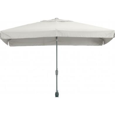 Parasol rectangulaire en polyester et aluminium 200 x 300 cm coloris gris collection Giraldo