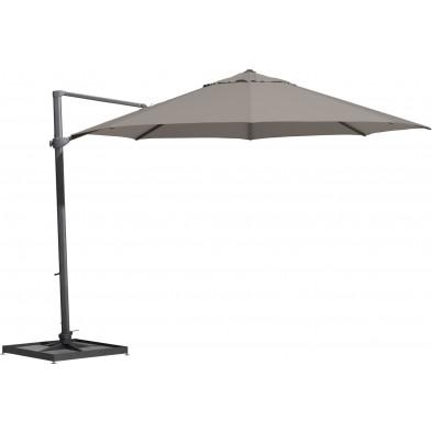 Parasol déporté en aluminium Ø 350 cm coloris Taupe collection Fideli