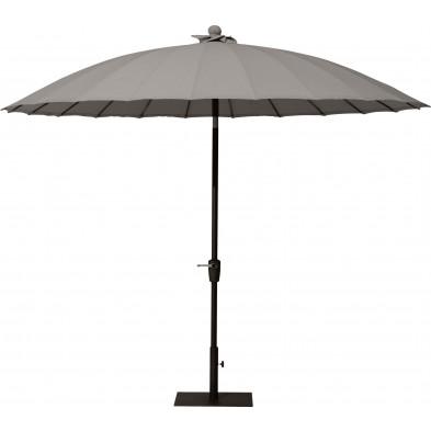 Parasol jardin droit en aluminium et polyester Ø 3 m coloris Taupe collection Bieno