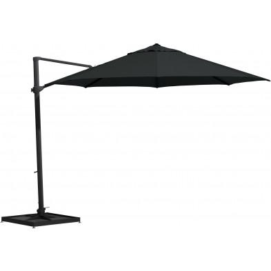 Parasol déporté en aluminium Ø 350 cm coloris noir collection Fideli