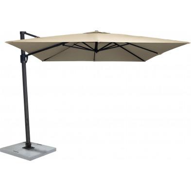 Parasol moderne en aluminium Ø 300 cm coloris Taupe collection Premolo