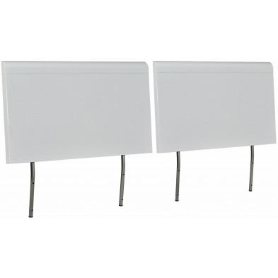Tête de lit blanc design en panneaux de particules de haute qualité L. 183 x P. 12 x H. 80 cm collection Tax