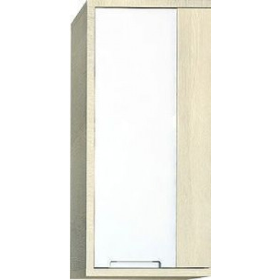 Meuble mural beige moderne L. 47 x P. 35 x H. 100 cm collection Lunenborg