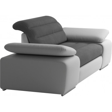 Fauteuils blanc design en acier polyester 1 place L. 134 x P. 95 x H. 86-100 cm collection BERGAMO