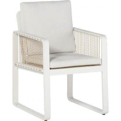 Chaise de jardin avec cordage coloris chanvre L. 58 x P. 67 x H. 83 cm collection Barna