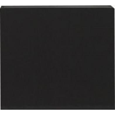 Meuble suspendu Cube design gris en panneaux de particules mélaminés L. 57 x P. 31 x H. 51 cm Collection Mollie