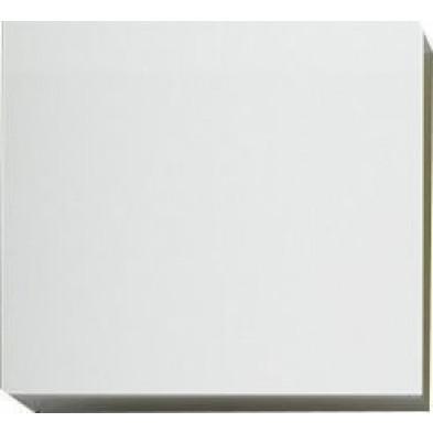 Meuble suspendu Cube design blanc en panneaux de particules mélaminés L. 57 x P. 31 x H. 51 cm  Collection Mollie