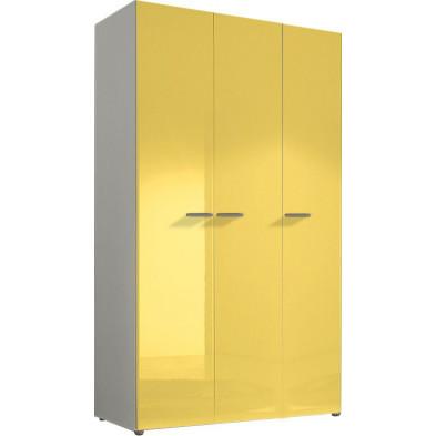 Armoire adulte jaune design L. 120 x P. 53 x H. 214 cm collection Houkes