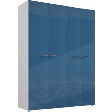 Armoire adulte bleu design L. 159 x P. 53 x H. 214 cm collection Bigley