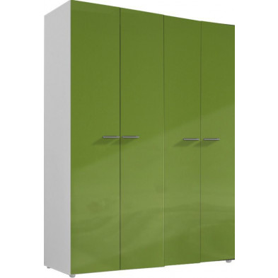 Armoire adulte vert design L. 159 x P. 53 x H. 214 cm collection Meby