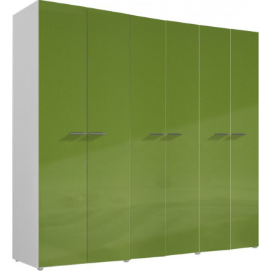 Armoire adulte vert design L. 237 x P. 53 x H. 214 cm collection Meby