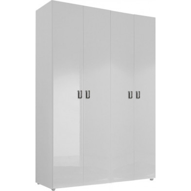 Armoire adulte blanc design L. 159 x P. 53 x H. 240 cm collection Houkes