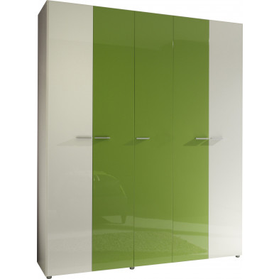 Armoire adulte blanc design L. 158 x P. 53 x H. 240 cm collection Obnoxious