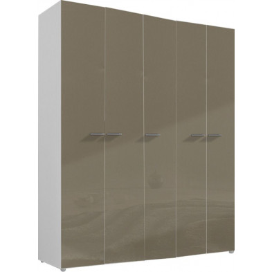 Armoire adulte beige design L. 158 x P. 53 x H. 240 cm collection Abigael
