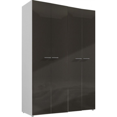 Armoire adulte gris design L. 159 x P. 53 x H. 240 cm collection Regillio