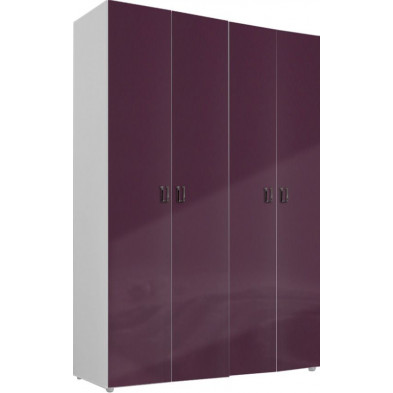 Armoire adulte violet design L. 159 x P. 53 x H. 240 cm collection Ocie