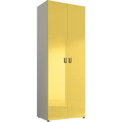 Armoire adulte jaune design L. 81 x P. 53 x H. 240 cm collection Kitchener