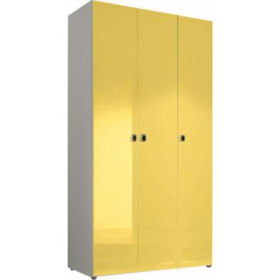 Armoire adulte jaune design L. 120 x P. 53 x H. 240 cm collection Kitchener