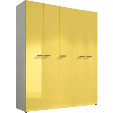 Armoire adulte jaune design L. 158 x P. 53 x H. 240 cm collection Kitchener