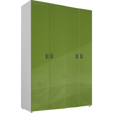 Armoire adulte vert design L. 159 x P. 53 x H. 240 cm collection Meby