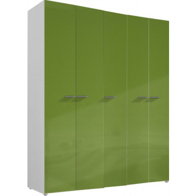 Armoire adulte vert design L. 158 x P. 53 x H. 240 cm collection Meby