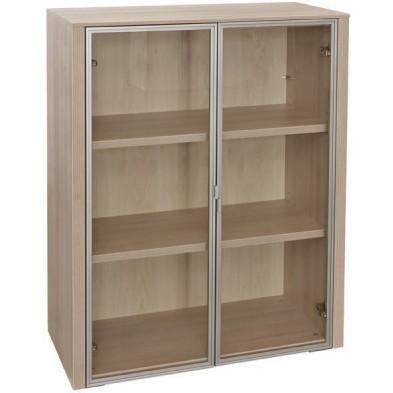 Meuble étagère marron moderne en panneaux de particules mélaminés de haute qualité L. 90 x P. 42,4 x H. 112,2 cm collection Jacarilla