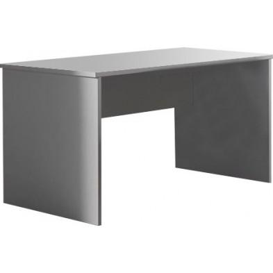 Bureau entreprise blanc design en panneaux de particules mélaminés de haute qualité L. 160 x P. 80 x H. 75 cm collection Ryo