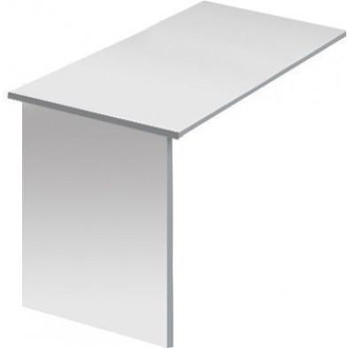 Table d'appoint de bureaux blanc design en panneaux de particules mélaminés de haute qualité L. 120 x P. 60 x H. 75 cm collection Inscribe